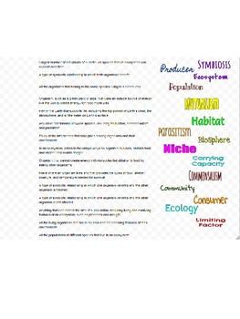 Interactions of Living Organisms Drag-n-Drop Vocab for Google Classroom