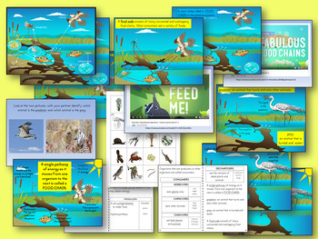 Interactions of Living Things PowerPoint and Interactive Student Notebook
