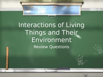 Interactions of Living Things Review