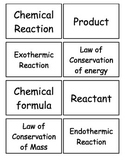 Interactions of Matter Flashcards, Middle School Science,