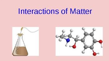 Interactions of Matter Unit Presentation