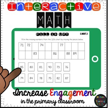 Interactive 1.NBT.1 Math Read & Count to 120 for the Google Drive Classroom