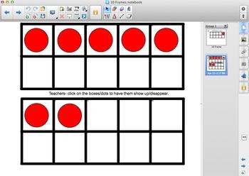 Interactive 10 Frames to Practice Subitizing & Math Fluency