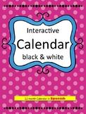 Interactive 12 month calendar in Spanish