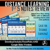 Interactive 1st 5 Note Slides - Distance Learning Band Slides