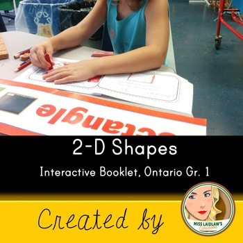 Interactive 2-dimensional Shapes Booklet - Ontario Grade 1 Geometry
