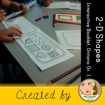 Interactive 2-dimensional Shapes Booklet - Ontario Grade 1
