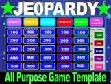 Interactive 2-round all purpose Jeopardy Game template w/