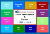 Interactive 2013 - 2014 School-Year Calendar & Lesson Planner (Excel)