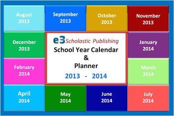 Interactive 2013 - 2014 School-Year Calendar & Lesson Planner (Excel)