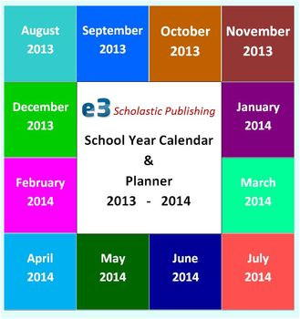 Interactive 2013 - 2014 School-Year Calendar & Lesson Planner (Word)