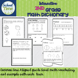 Interactive 2nd Grade Math Dictionary for the Whole Year -