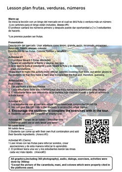 Interactive 360° to Practice Spanish /Central Market in Valencia  +  Lesson Plan