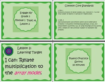 Interactive 3rd Grade Mimio Supplement for  Engage NY Module 1 Topic A Lesson 2