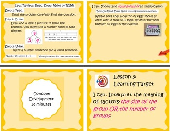 Interactive 3rd Grade Mimio Supplement for Engage NY Module 1 Topic A Lesson 3