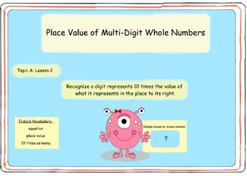 Interactive:  4th Grade Engage NY - Module 1 -  Topic A - Lesson 2