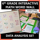 Interactive 6th Grade Math Word Wall Data Analysis with Google Forms