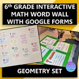 Interactive 6th Grade Math Word Wall Geometry Set with Goo