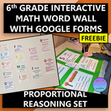 Interactive 6th Grade Math Word Wall Proportions Set with