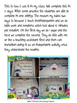 Interactive ABC Alphabet Notebook