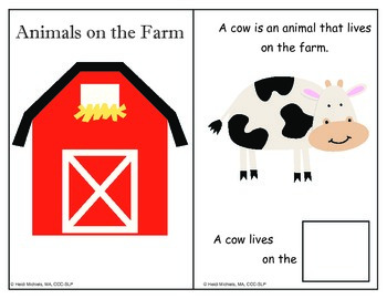 Interactive ANIMALS Books and Thematic Concept Activities (Farm, Zoo, AND Pond)