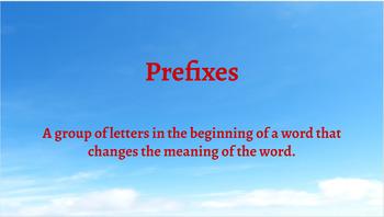 Google Classroom- Word Work:Interactive Activities Prefixes RE, PRE, UN, DIS