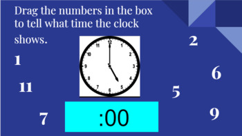 Google Classroom- Math Centers: Interactive Activities Telling Time