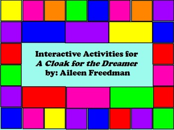 Interactive Activities for A Cloak for the Dreamer