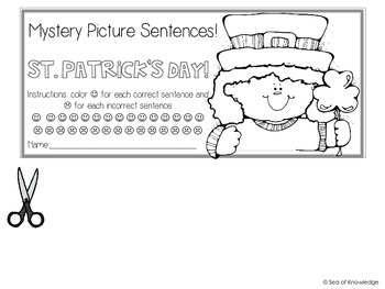 Interactive Activity Booklets {Mystery Picture Sentences St. Patrick's Day}