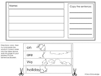 Writing Sentences - Mystery Pictures St Patrick's Day
