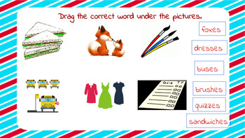 Interactive Activity Plural ies, s, ss