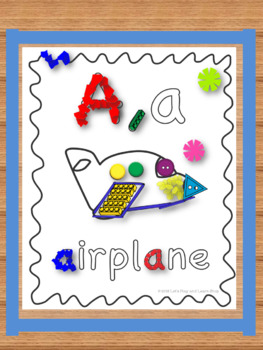 Interactive Activity Posters & Sticky Wall for Letter A,a (Toddlers & Preschool)