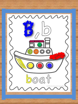 Interactive Activity Posters & Sticky Wall for Letter B,b (Toddlers & Preschool)