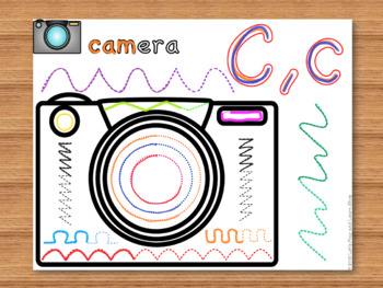 Interactive Activity Posters & Sticky Wall for Letter C,c (Toddlers & Preschool)