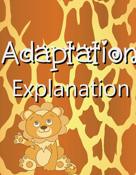 Adaptation Explanation