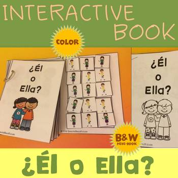 Interactive Adapted Book: ¿Él or Ella? - Pronouns in Spanish!