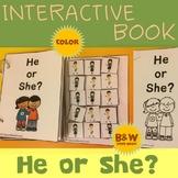 Interactive Adapted Book: He or She? - Pronoun Fun!
