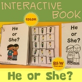 Interactive Adapted Book: He or She? - Pronoun Fun!
