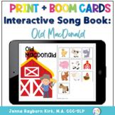 Interactive Song Book: Old MacDonald PRINT and BOOM DECK