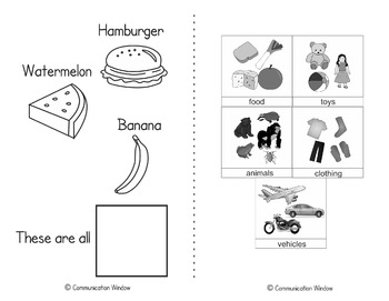 Interactive Adapted Book Pack - Categories!