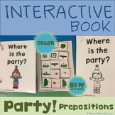 Interactive Adapted Book: Party Prepositions