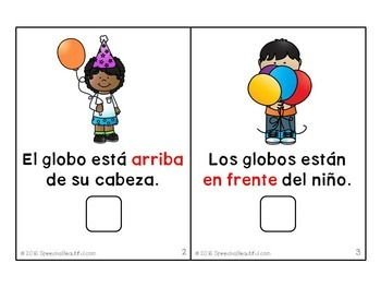 Interactive Adapted Book: Party Prepositions in Spanish