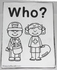 Interactive Adapted Book: Who? - Community Helpers
