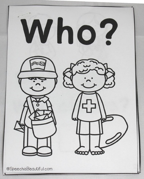 Speech Therapy Interactive Adapted Book: Who? - Community Helpers