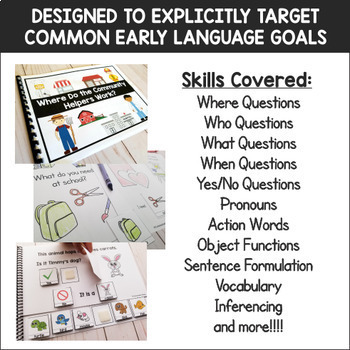 Interactive Adapted Books Bundle for Early Language Skills and Autism