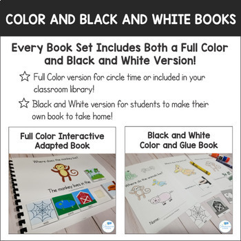 Interactive Adapted Books Bundle for Language Development and Autism