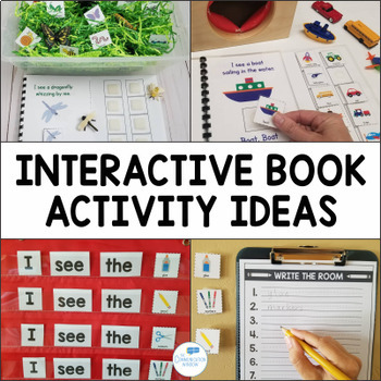 Interactive Adapted Books Bundle-What Do You See? Books
