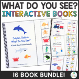 "Interactive ""What Do You See?"" Vocabulary Adapted Books Bundle"