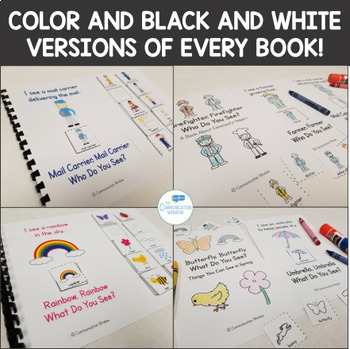 """Interactive """"What Do You See?"""" Vocabulary Adapted Books Bundle"""