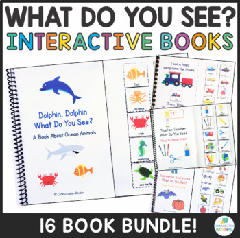 """Interactive """"What Do You See?"""" Vocabulary Emergent Reader Books Bundle"""